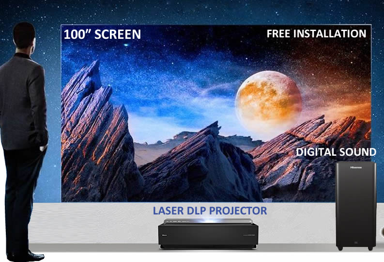 Hisense 100LN60D Dual Laser 100 inch Ultra High Definition (UHD) 4K