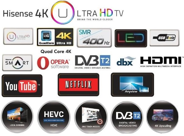 HiSense 55 inch UHD Series 3 Ultra High Definition VIDAA Smart TV