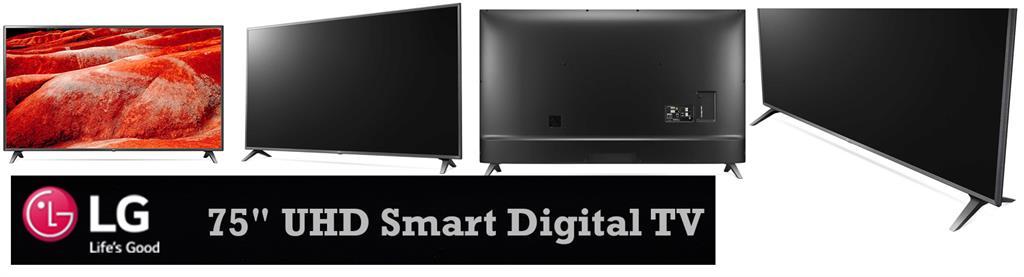 LG 75UM7580PVA AFB 75 inch UHD Smart Digital TV, Live in Wonder with