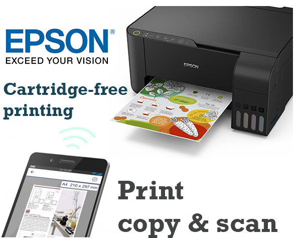 Epson Ecotank L3150 3-in-1: Print, copy & scan and