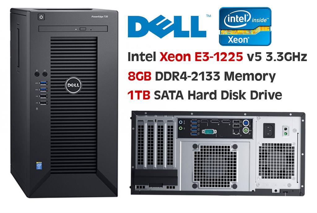 Dell Poweredge T30 Mini Tower Server - Intel Xeon E3-1225 v5