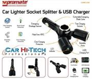 Promate CMS-02 Car Lighter Socket Splitter & USB