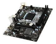 Msi H110M PRO-VH PLUS LGA 1151 Micro ATX Motherboard - Support the Intel 6th generation Core i7, Core i5, Core i3 processors in the 1151 package, Intel H110 Chipset, 2-DIMM DDR4-2133 up to 32G maximum capacity, 4 x SATA 3Gb/s Connectors, 1 x D-Sub, 1 x HDMI, Realtek ALC887 Codec 7.1-Channel High Definition Audio, 1 x PCIe 3.0 x16 slot, 2 x PCIe 2.0 x1 slots, 1 x Realtek RTL8111H Gigabit LAN controller, 4 x USB 3.1 Gen1 (SuperSpeed USB) ports (2 ports on the back panel, 2 ports available through the internal USB connector), 6 x USB 2.0 (High-speed USB) ports (2 ports on the back panel, 4 ports available through the internal USB connectors), 1 x CPU FAN Header, 1 x System FAN Header, m-ATX Form Factor, Retail Box, 2 year warranty