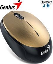 Genius NX-9000BT Bluetooth 4.0 3-button wireless optical  mouse - 1200 dpi BlueEye sensor, Built-in 320mAh lithium poylmer battery, 10m  Range - Gold, Retail Box , 1 year Limited warranty
