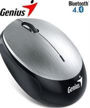 Genius NX-9000BT Bluetooth 4.0 3-button wireless optical mouse - 1200 dpi BlueEye sensor, Built-in 320mAh lithium poylmer battery, 10m Range - Silver, Retail Box , 1 year Limited warranty