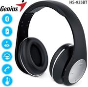 price of Genius HS935BT Wireless Bluetooth 4.1 Stereo Headset with Built in Microphone - Adjustable and foldable headband, 40mm Driver Unit, 32ohms Impedance, 160Hz ~ 20KHz Frequency Response, 3.5 audio jack enables wired audio input, Built-in rechargeable Lithium Ion battery, 30m Range - Black, Retail Box , 1 year Limited Warranty  on ShopHub | ecommerce, price check, start a business, sell online