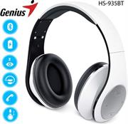 price of Genius HS935BT Wireless Bluetooth 4.1 Stereo Headset with Built in Microphone - Adjustable and foldable headband, 40mm Driver Unit, 32ohms Impedance, 160Hz ~ 20KHz Frequency Response, 3.5 audio jack enables wired audio input, Built-in rechargeable Lithium Ion battery, 30m Range - White, Retail Box , 1 year Limited Warranty  on ShopHub | ecommerce, price check, start a business, sell online