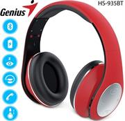 price of Genius HS935BT Wireless Bluetooth 4.1 Stereo Headset with Built in Microphone - Adjustable and foldable headband, 40mm Driver Unit, 32ohms Impedance, 160Hz ~ 20KHz Frequency Response, 3.5 audio jack enables wired audio input, Built-in rechargeable Lithium Ion battery, 30m Range - Red, Retail Box , 1 year Limited Warranty  on ShopHub | ecommerce, price check, start a business, sell online