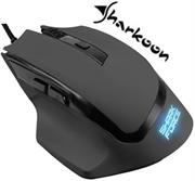 Sharkoon SHARK Force Gaming Optical Mouse: Black, Professional 6-button gaming mouse, Three DPI levels (600-1000-1600 DPI), Ergonomic design, Rubberized surface for maximum grip, USB connector, Retail Box , 1 Year warranty