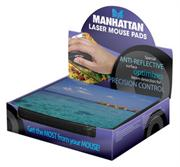 Manhattan Design Laser Mouse Pad- 24 Pad per Box, Retail  Box , No warranty