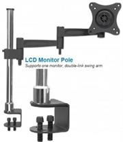 Manhattan LCD Monitor Pole - Supports one monitor, 