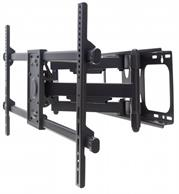 """Manhattan Universal LCD Full-Motion Large-Screen Wall Mount - Holds One 37"""" to 90"""" Flat-Panel or Curved TV up to 75 kg (165 lbs.); Adjustment Options to Tilt, Swivel and Level - Black, Retail Box , 1 year Limited Warranty"""