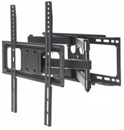 """Manhattan Universal Basic LCD Full-Motion Wall Mount  - Holds One 32"""" to 55"""" Flat-Panel or Curved TV up to 40 kg (88 lbs.), Adjustment  Options to Tilt, Swivel and Level - Black, Retail Box , 1 year Limited Warranty"""