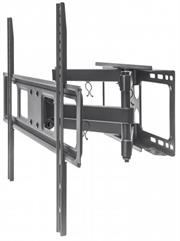 """Manhattan Universal Basic LCD Full-Motion Wall Mount - Holds One 37"""" to 70"""" Flat-Panel or Curved TV up to 40 kg (88 lbs.), Adjustment Options to Tilt, Swivel and Level - Black, Retail Box , 1 year Limited Warranty"""