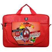 """Port Polairs 15"""" (not 15.6"""") Polaris II Bundle  Laptop Bag and mouse - Top Loader Bag and USB Mouse - Red, Retail Packaging, 1  year Limited Warranty"""