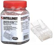 Intellinet 100-Pack Cat5e RJ45 Modular Plugs - 