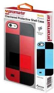 Promate Notik -BLUE Retail Box 1 Year Warranty  Checkered Protective Shell Case for iPhone 5  Product Overview The Promate Notik is Fashionably aimed, this unique checkered design protection case for iPhone 5 is in a class of its own. Complete with t