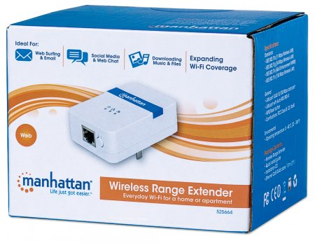 Manhattan Wireless Range Extender - 150 Mbps, 802 11b/g/n