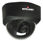 Intellinet NFD30 Network Dome Camera MPEG4 + Motion-JPEG Dual Mode PoE Audio - Excellent image quality with 30 fps full-motion video in all resolutions Progressive-scan image sensor with OmniPixel2 technology Supports image resolutions up to 640 x 48