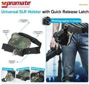 Promate Bolster Universal SLR Holster with Quick Release Latch - Camouflage, Retail Box, 1 Year Warranty  Product OverviewThe Promate Bolster, Universal SLR Holster with Quick Release Latch provides the most secure and comfortable way to carry your c