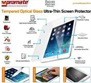 Promate primeShield.iPm-Ultra-Thin Tempered Optical Glass Screen Protector for iPad mini, Retail Box, 1 Year Warranty