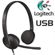Logitech H340 USB Headset - Adjustable Headband, Inline Audio Controls, Full Stereo Dual Channel, USB Connection, Noise Cancelling Mic, Black, Retail Box , 1 year Limit warranty