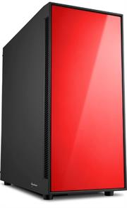 Sharkoon AM5 Window ATX Tower PC Gaming Case Red with 