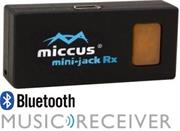 Miccus Mini-jack RX: Bluetooth receiver for car and 