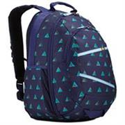 Case Logic Berkeley II Indigo Peaks 15.6 inch Laptop  Backpack - Dedicated pocket for a 15.6 inch laptop and dedicated sleeve for your  iPad or Tablet PC, Cash-stash pocket on back panel provides hidden storage for  money and ID, Suitcase style opening on main compartment allows high visibility,  Articulating shoulder straps seamlessly move to accommodate various body types,  Oversized zippers provide smooth access and are wide enough to attach a luggage  lock for extra security, Removable, adjustable sternum strap offers extra  support when toting heavy items, Mesh side pockets conveniently store water  bottles easily within reach-Indigo Blue, Retail Box, 1 year Limited Warranty