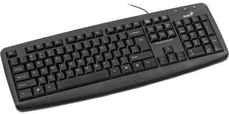 Genius KB110X PS2 Black Keyboard - Standard