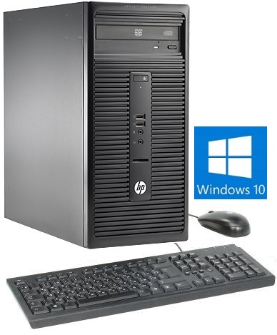 HP 280 G1 Microtower - Intel Celeron G1840 2M Cache, 2.8 GHz Processor, 2GB DDR3L 1600Mhz RAM, 2 SLOTS, MAX 16GB, 500GB 7200RPM Hard Drive, Image