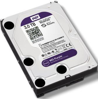 "Western Digital Purple - 3.0TB 3.5"" SATA3 6.0Gbps Surveillance HDD, Intellipower™ Speed Management, 64MB Cache, 150MB/s Host to/from (Sustained), AllFrame, HD Video Optimised Image"
