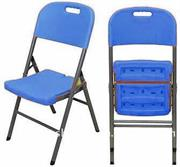 UniQue Steel Folding Chair size 430x450x835mm-Blue Product OverviewThese chairs are ideal for large functions, receptions or just when you need a spare chair that can be folded away and stored in seconds.these chairs are very strong and of high quali