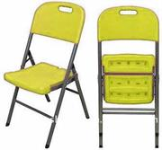 furniture unique steel folding chair size 430x450x835mm yellow