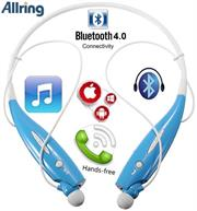 AllRing HBS730 Flexible Bluetooth Ver 4.0 Wireless Hand Free Sports Stereo Headsets Neckband Style Earphones - Blue, Retail Box , 1 year Limited Warranty