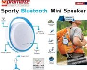 Promate Medal Sporty Bluetooth Mini Speaker - Blue, Retail Box, 1 Year Warranty