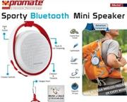 Promate Medal Sporty Bluetooth Mini Speaker - Maroon, Retail Box, 1 Year Warranty