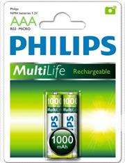 Philips Rechargeables accu Battery 2 X R03B2A100