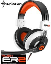 Sharkoon Rush ER2 Circumaural Stereo Headset with Microphone - White, Retail Box , 1 year Limited Warranty