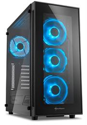 Sharkoon TG5 Window ATX Tower PC Gaming Case Blue with 