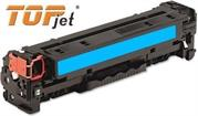 TopJet Generic Replacement Toner Cartridge for HP 128A -CE321A - Page Yield: 1300 pages with 5% coverage for use with Colour LaserJet CM1415 / CM1415fn / CM1415fnw / CP1525nw -Cyan , Retail Box