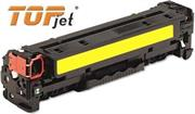 TopJet Generic Replacement Toner Cartridge for HP 128A -CE322A - Page Yield: 1300 pages with 5% coverage for use with Colour LaserJet CM1415 / CM1415fn / CM1415fnw / CP1525nw -Yellow , Retail Box