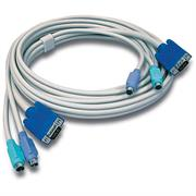 TrendNet 10ft PS/2/VGA KVM Cable-Connect computers with VGA and PS/2 ports to a TRENDnet KVM device-Use with TRENDnet 2, 4, 8 and 16 port PS/2 KVM switches, Retail Box,