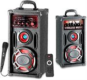price of Audionic Classic BT150 Wireless Bluetooth 2.0 Channel HiFi Speakers - USB Playing Port , SD / MMC Slot , Built-in FM Radio, Output Power: 18W RMS x 2, Bass Duct Technology, Wireless Remote Control, Professional Karaoke Jack Feature, Retail Box , 1 year Limited Warranty  on ShopHub | ecommerce, price check, start a business, sell online