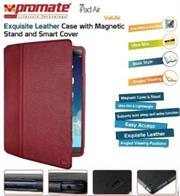 Promate Veil-Air Ultra Slim Promate Protective with Stand Function for iPad Air, Red, Retail Box, 1 Year Warranty