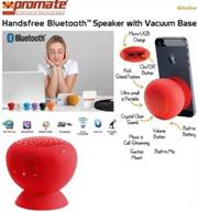 Promate Globo -2 ,Portable Bluetooth® 3.0 Speaker with suction stand Colour:Red, Retail Box , 1 Year Warranty