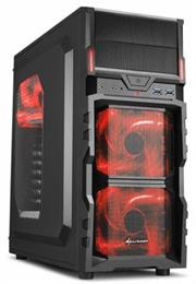 Sharkoon VG5-W Midi Tower PC Gaming Case Red with 