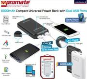 Promate reliefMate-6 6000mAH Compact Universal