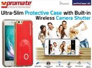 Promate selfieCase-i6 Ultra-Slim Protective case with Built-in Wireless Camera Shutter - Red, Retail Box , 1 Year Warranty