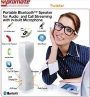 price of Promate Twister-Portable Bluetooth™ Speaker for Audio and Call Streaming with in-built Microphone-Grey, Retail Box, 1 Year Warranty on ShopHub | ecommerce, price check, start a business, sell online